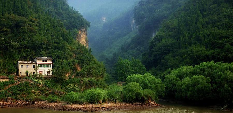 China Photograph - Green Along The Yangtze by Rick Lawler