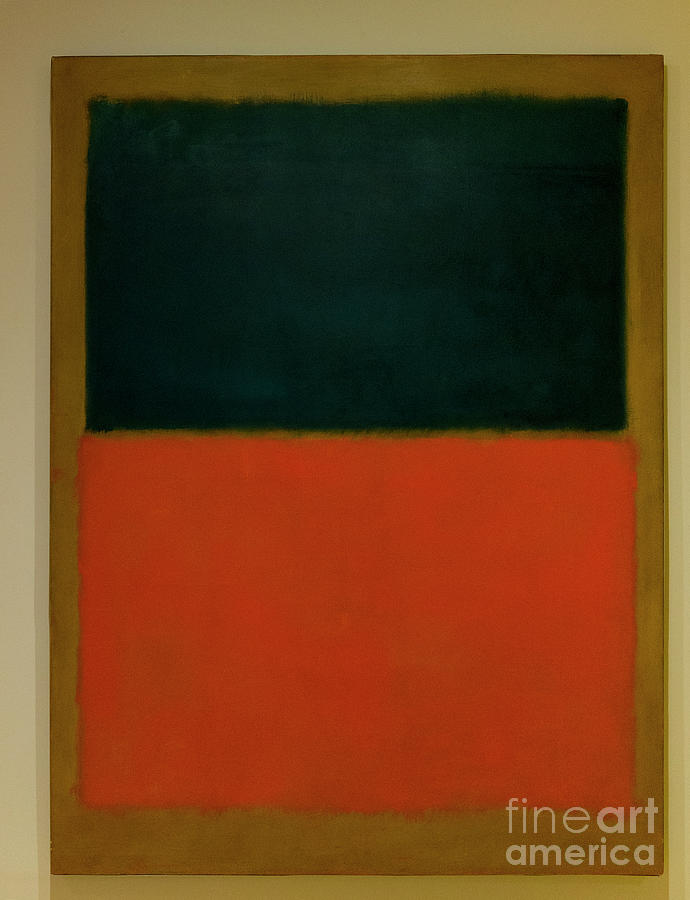 1956 Photograph - Green and Tangerine on Red, 1956 by Mark Rothko