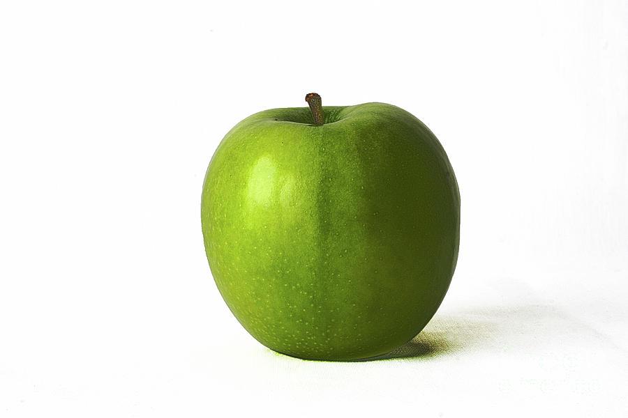 Apple Photograph - Green Apple by Alan Harman