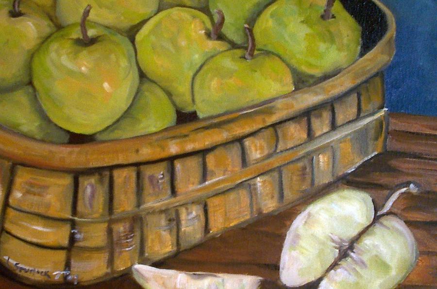 Fruit Painting - Green Apples by Leslie Spurlock