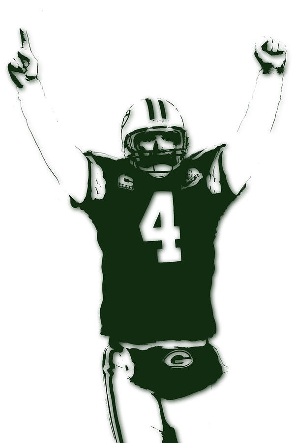 Packers Photograph - Green Bay Packers Bret Favre 3 by Joe Hamilton