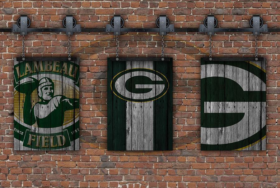 Perfect Green Bay Packers Photograph   Green Bay Packers Brick Wall By Joe Hamilton