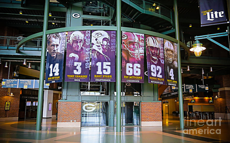 green bay packers football photograph green bay packers retired numbers by stephanie forrer harbridg