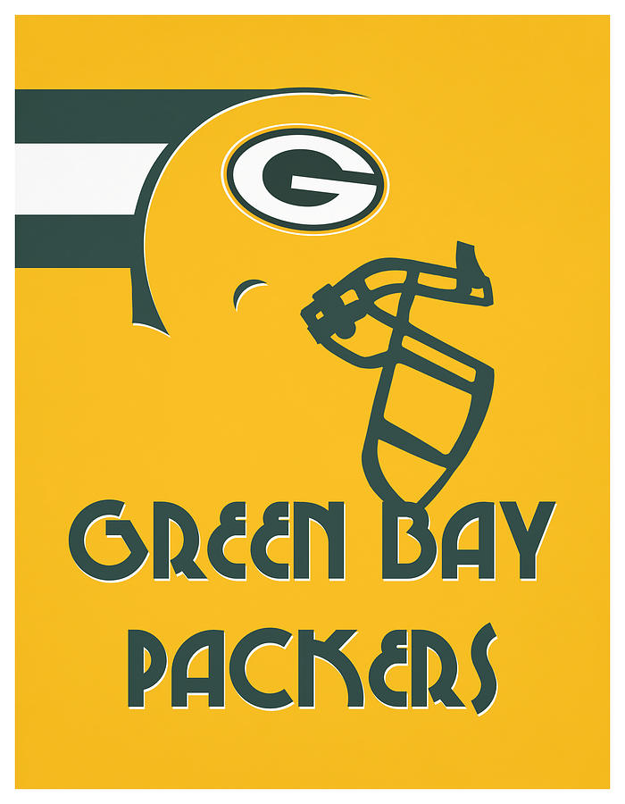 Packers Mixed Media - Green Bay Packers Team Vintage Art by Joe Hamilton