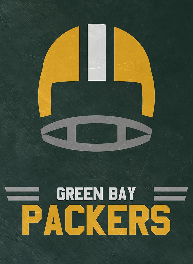 Packers Mixed Media - Green Bay Packers Vintage Art by Joe Hamilton