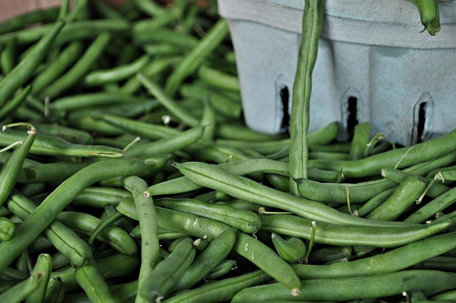 Greenbeans Photograph - Green Beans by William Jones