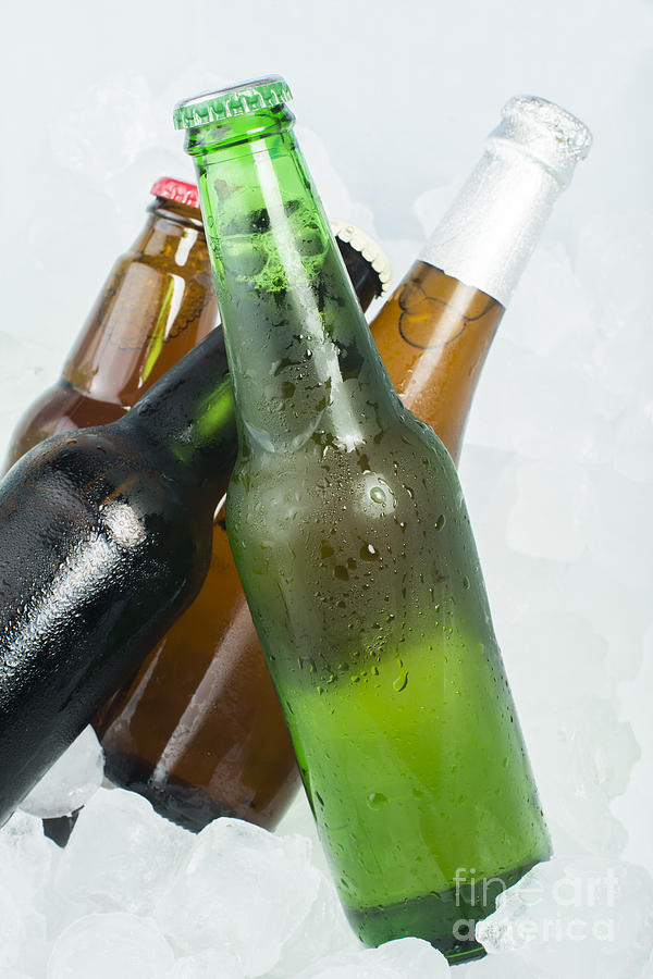 Alcohol Photograph - Green Bottle Of Beer by Deyan Georgiev