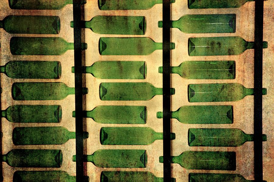 Green bottles by Vittorio Chiampan