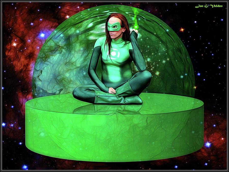 Green Photograph - Green Bubble by Jon Volden