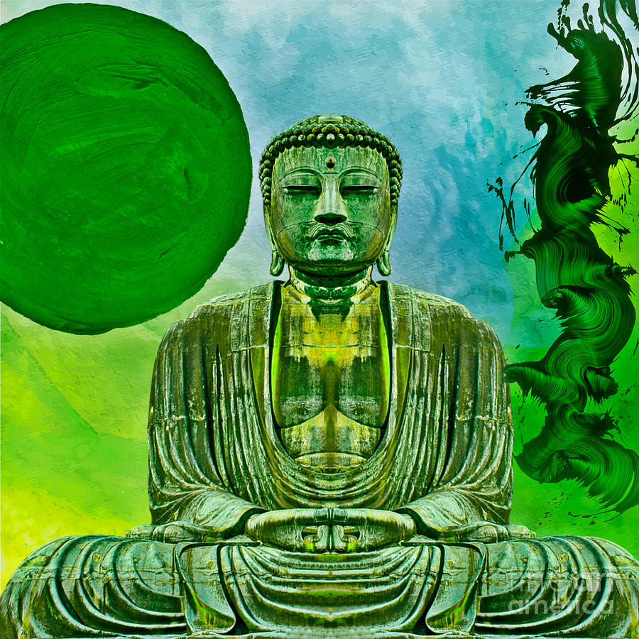 Green Buddha by Lita Kelley