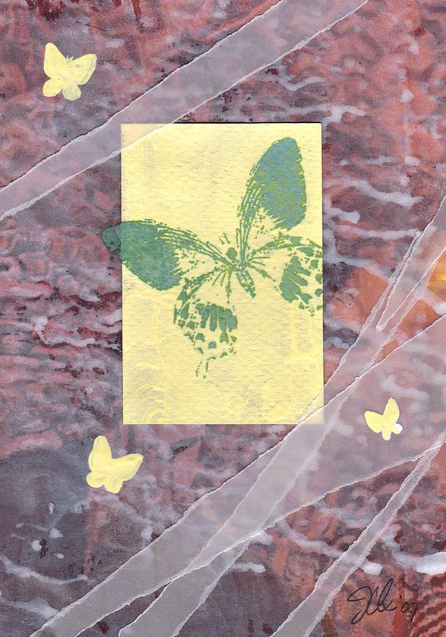 Butterfly Mixed Media - Green Butterfly by Jennifer Bonset