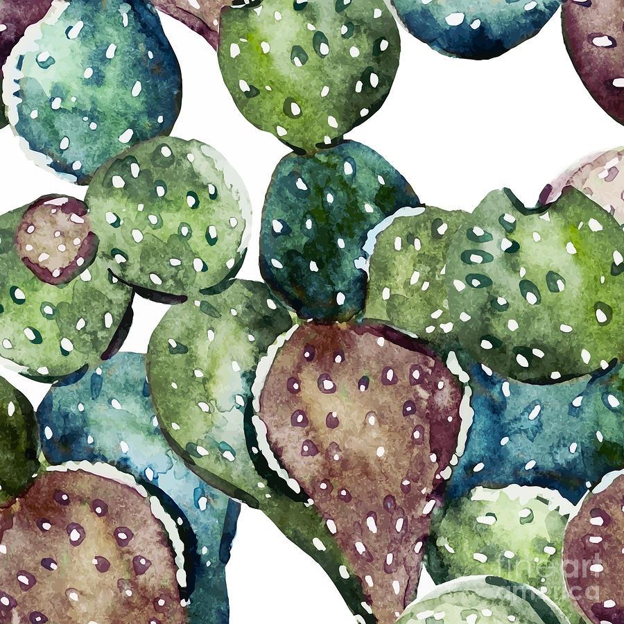 Summer Painting - Green Cactus  by Mark Ashkenazi