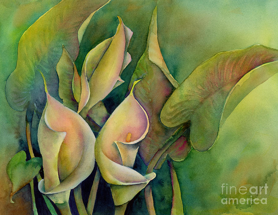 Green Calla Lilies Painting
