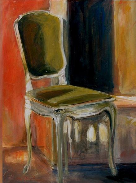 Green Painting - Green Chair by Darrah Dean Gooden