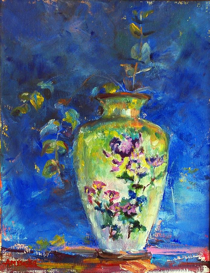 Green Chinese Vase by Ann Bailey