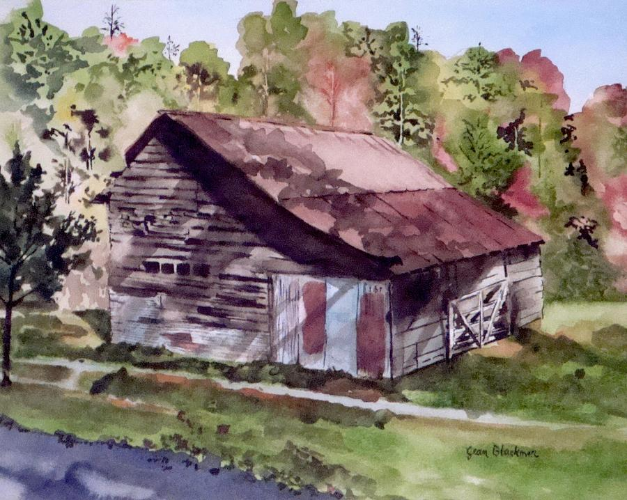 Barns Painting - Green Creek Barn by Jean Blackmer