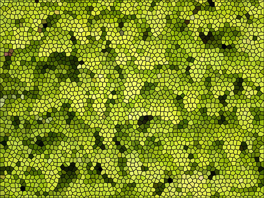 Floral Digital Art - Green Curtain by James Granberry