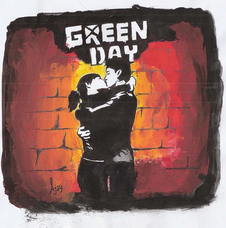 21st Century Breakdown Cover Drawing - Green Day by Ajay Atroliya