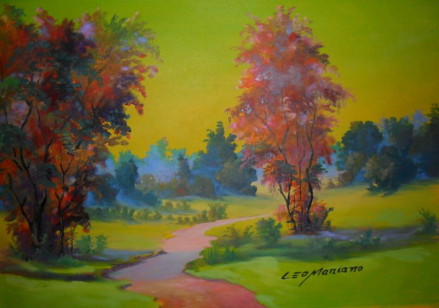 Green Day In Pasargada Painting by Leomariano artist BRASIL
