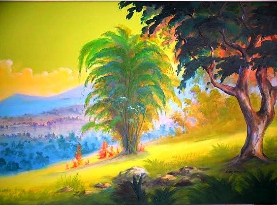 Green Day Series Painting by Leomariano artist BRASIL