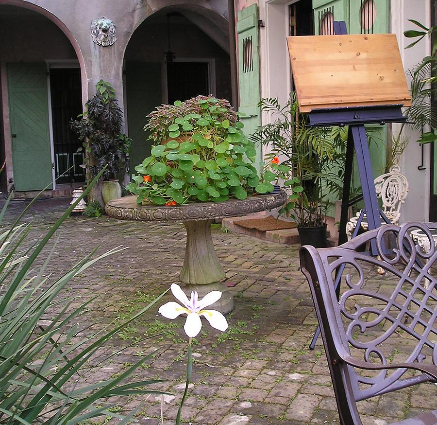 Courtyard Photograph - Green Door 25 by Tom Hefko