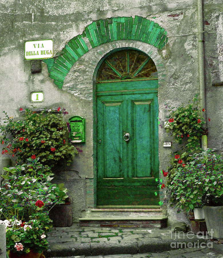 Green Door Photograph - Green Door by Karen Lewis