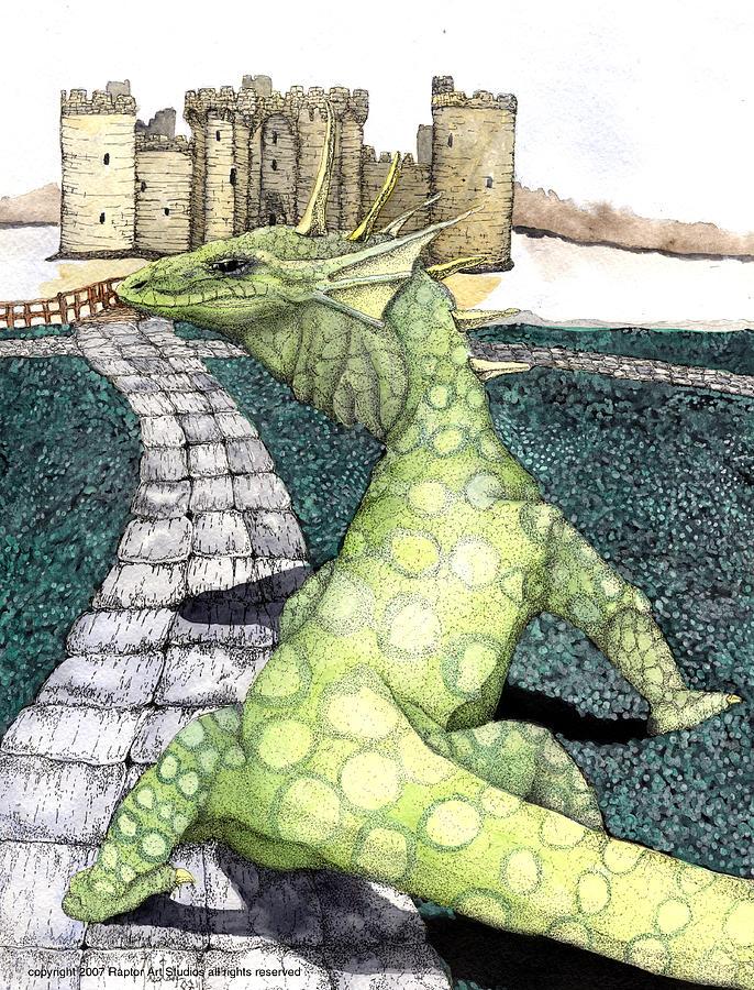 Green Dragon Mixed Media by Preston Shupp