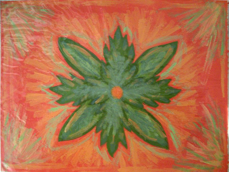 Flower Painting - Green Dream by Laura Lillo