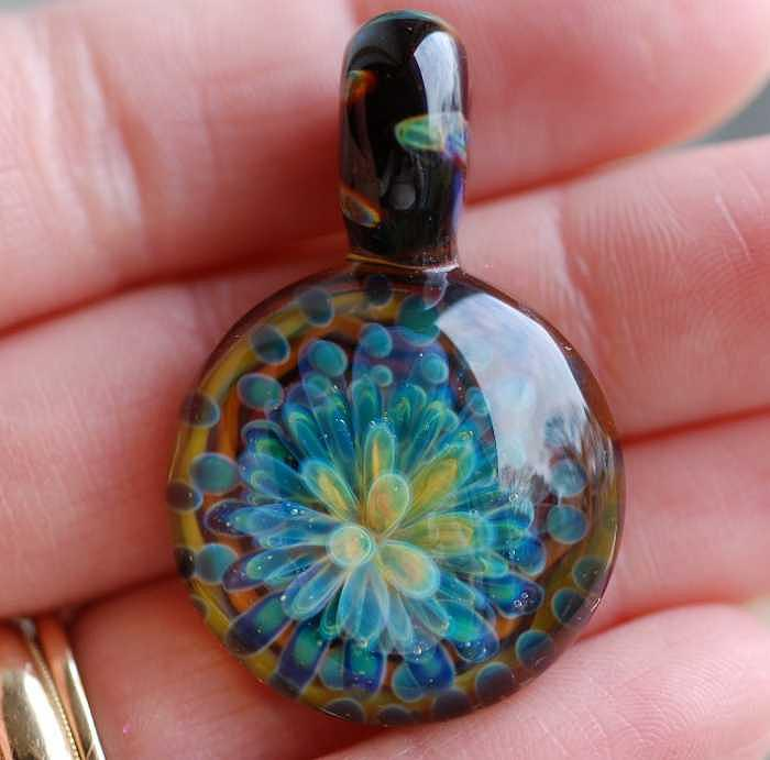 Green Dream Glass Art by Paula McDonough