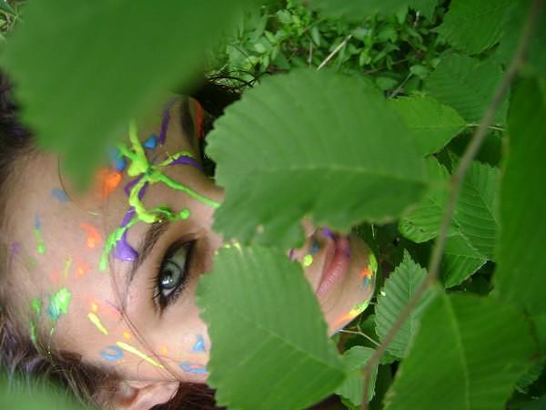 Paint Photograph - Green Eyed Lady   Jungle Lady by Chelsea Jones
