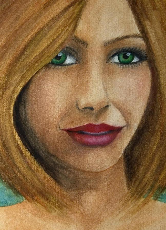 Green Eyes Upclose by Barbara J Blaisdell
