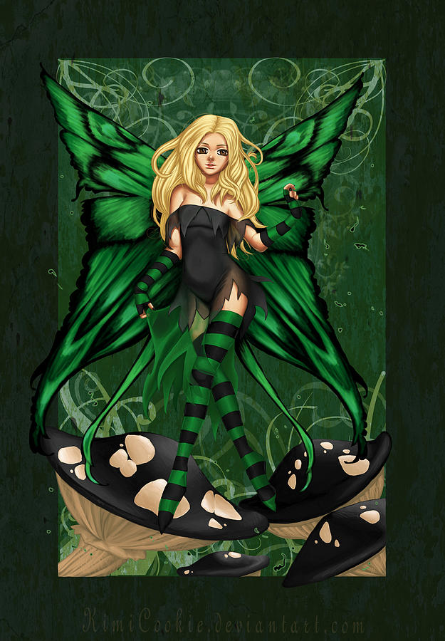 Poison Digital Art - Green Fairy Of Poison by KimiCookie Williams