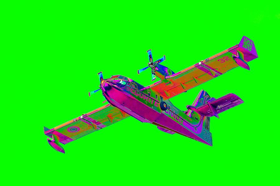 Green Fire Flight Photograph