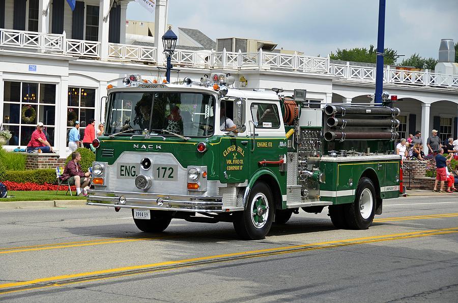 Fire Engine Photograph - Green Firetruck by Dave Zuker