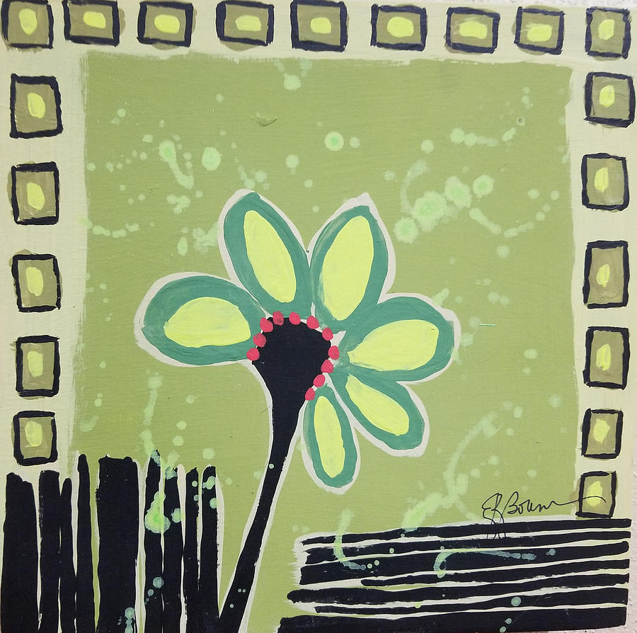 Green Flower by Elise Boam