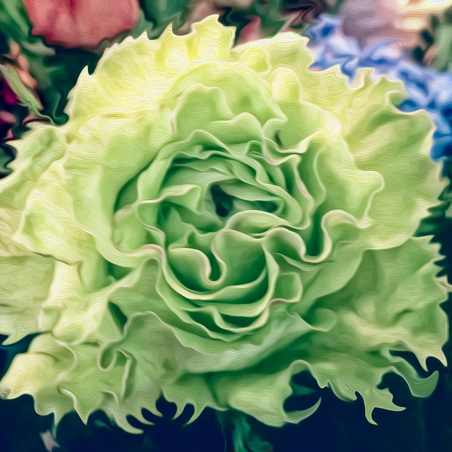 Green Flower by Linda Constant