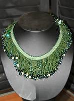 Green Fringe Jewelry by Jama Watts