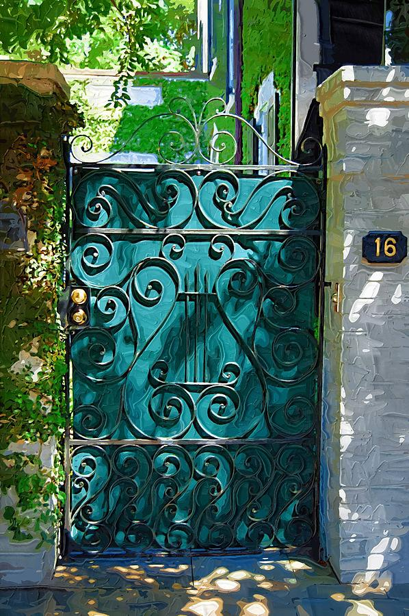 Green Photograph - Green Gate by Donna Bentley