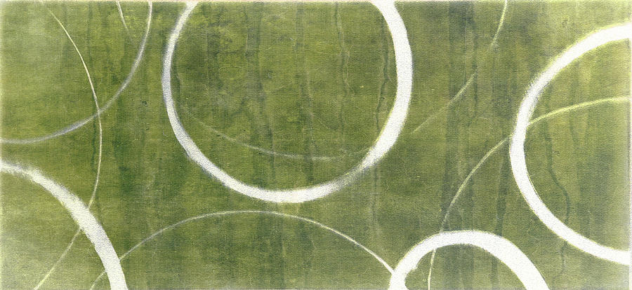 Green Gold Ensos Painting