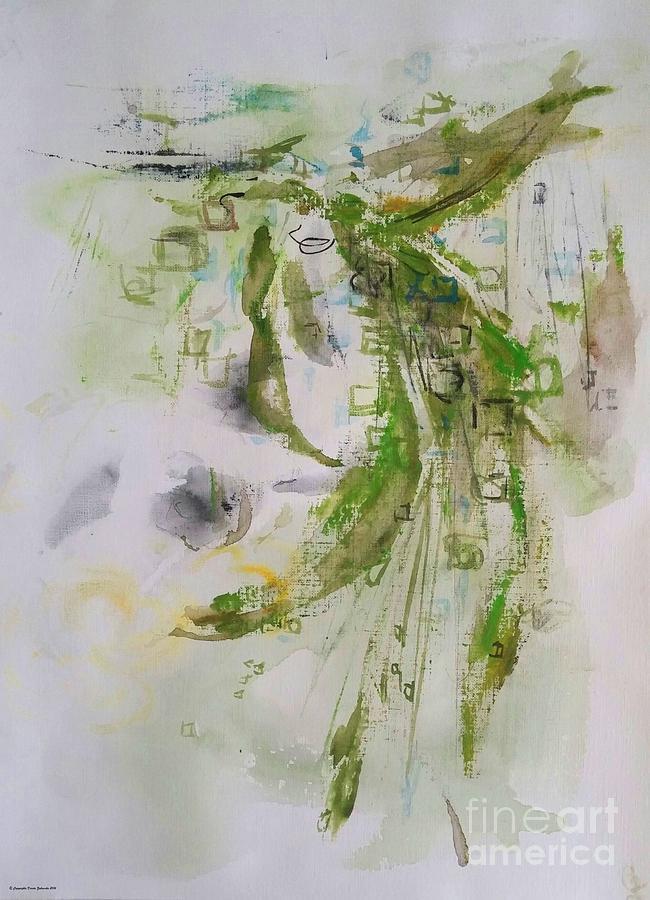 Green Grasses Shimmer Painting