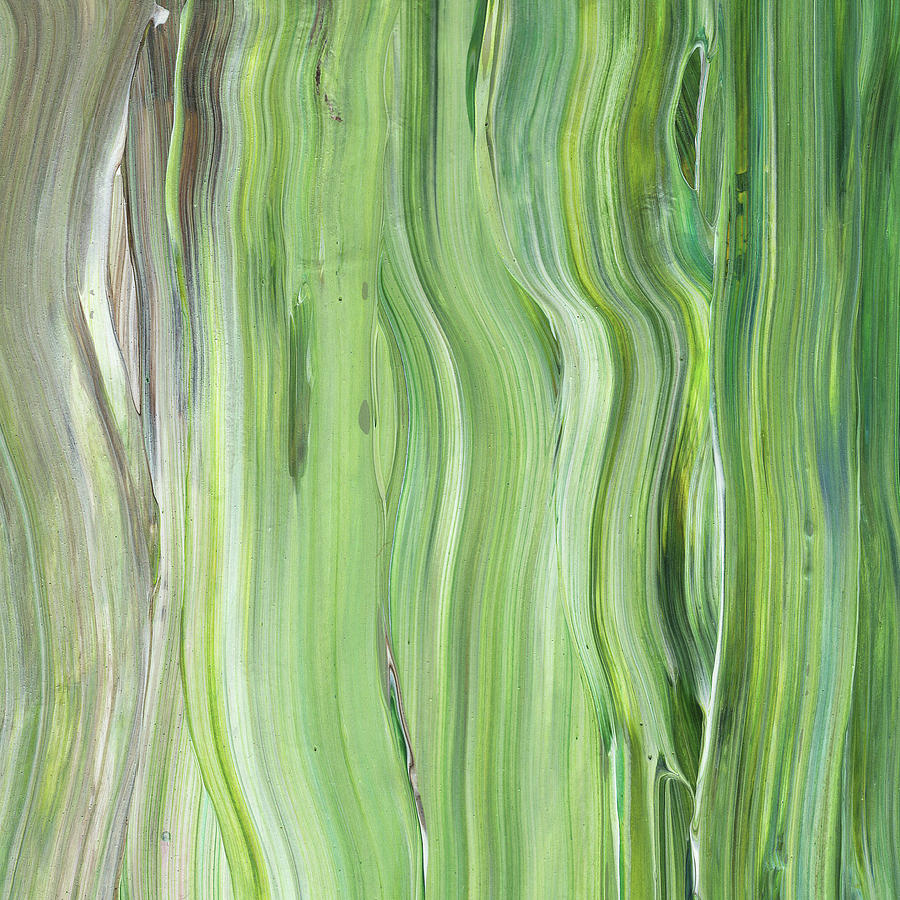 Awe Inspiring Green Gray Organic Abstract Art For Interior Decor Ii Download Free Architecture Designs Embacsunscenecom