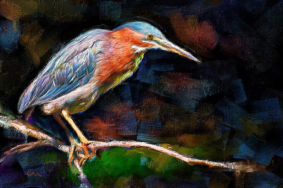 Night Heron Painting