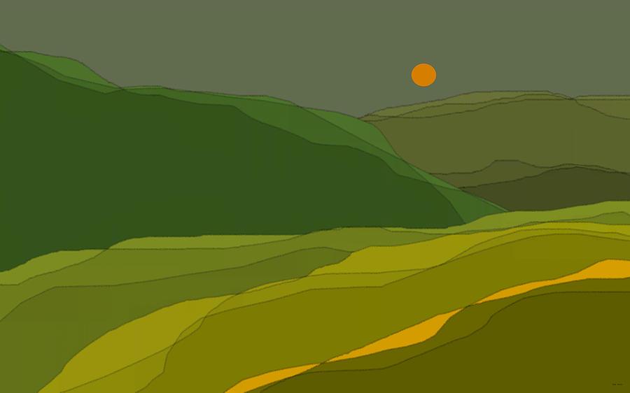 Green Hills Digital Art - Green Hills by Val Arie