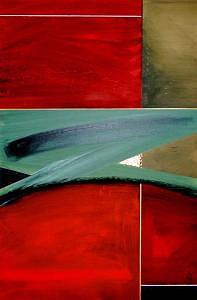 Abstract Painting - Green Horizon 1 by G Anthony Gallo