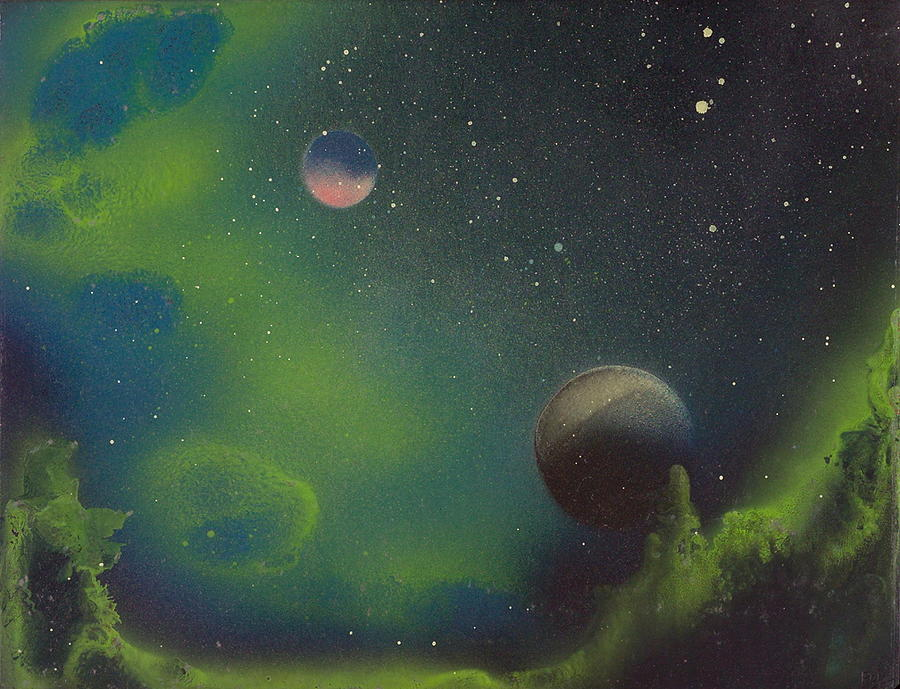 Green Is The Night At All Painting by Robie Julian