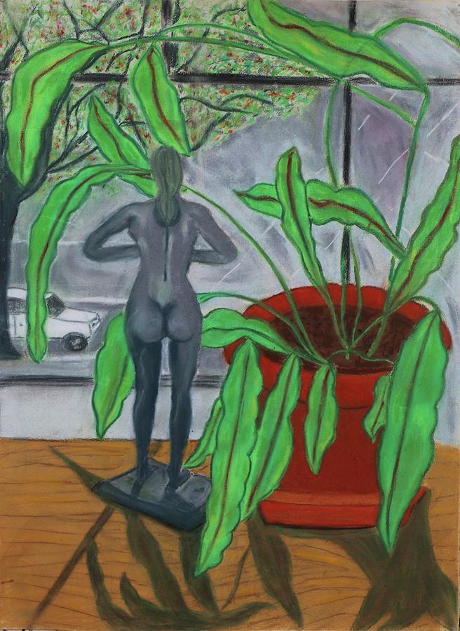 Nude Pastel - Green Lady by Eliezer Sobel