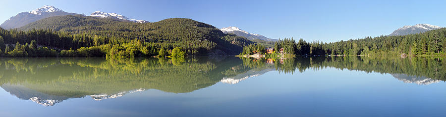 Green Photograph - Green Lake Whistler Panorama by Pierre Leclerc Photography