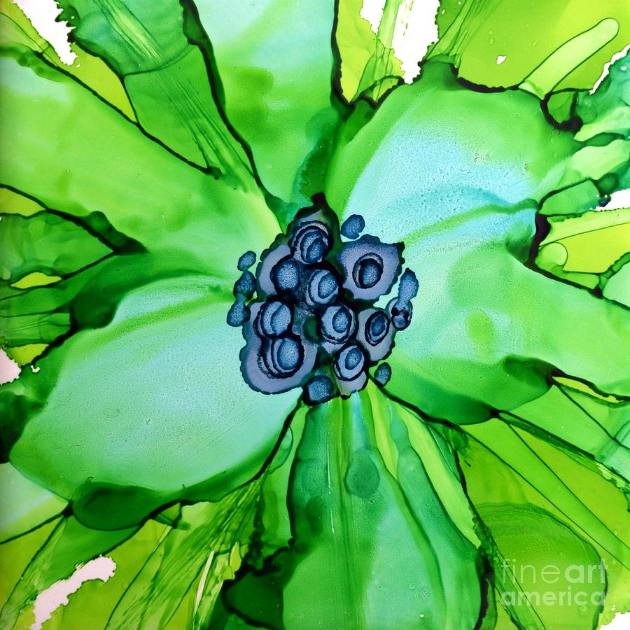 Green Macro Floral by Beth Kluth