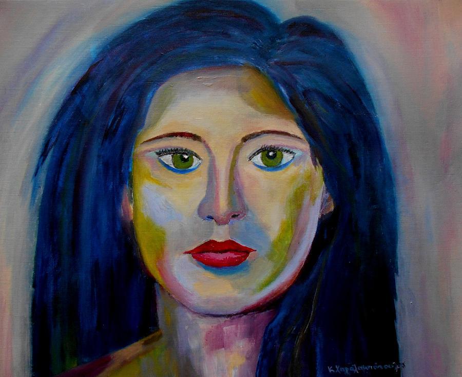 Green Magic Eyes Painting