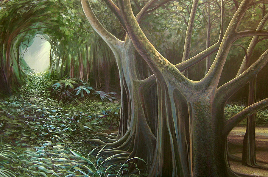 Barbados Painting - Green Mansions by Hunter Jay